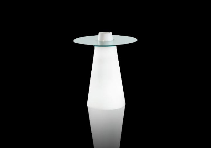 コーン型ガラスローテーブル:M-014