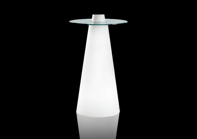 コーン型ガラスハイテーブルM-015
