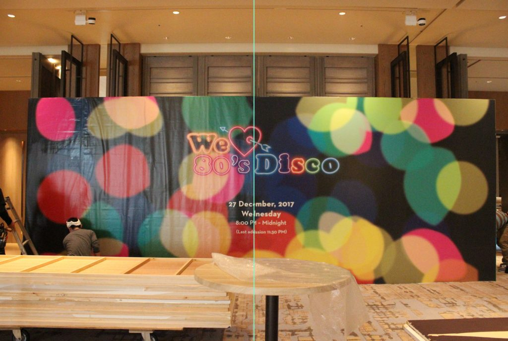 We love 80's disco _水張り